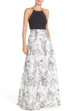 Aidan Mattox Sleeveless Floral Gown - Product List Image