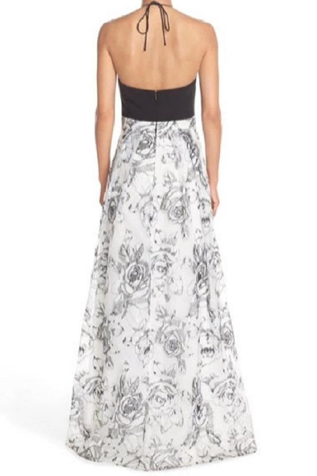 Aidan Mattox Sleeveless Floral Gown - Front Full Image
