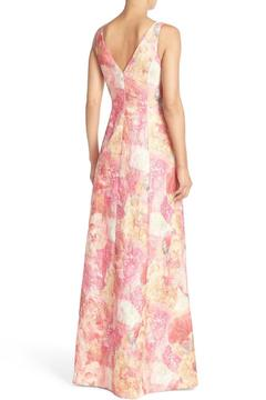 Aidan Mattox Sleeveless Floral Gown - Alternate List Image