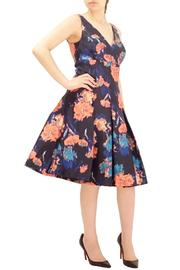 Aidan Mattox Sleeveless Printed Dress - Product Mini Image