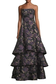 Aidan Mattox Strapless Floral Gown - Product Mini Image