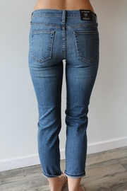 just black Aiden Girlfriend Jeans - Front full body