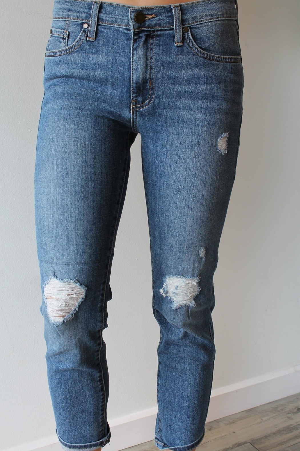 just black Aiden Girlfriend Jeans - Main Image