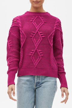 Michael Stars Aileen cable knit pullover - Alternate List Image