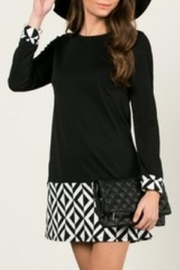 Aime Black Chevron Dress - Product Mini Image