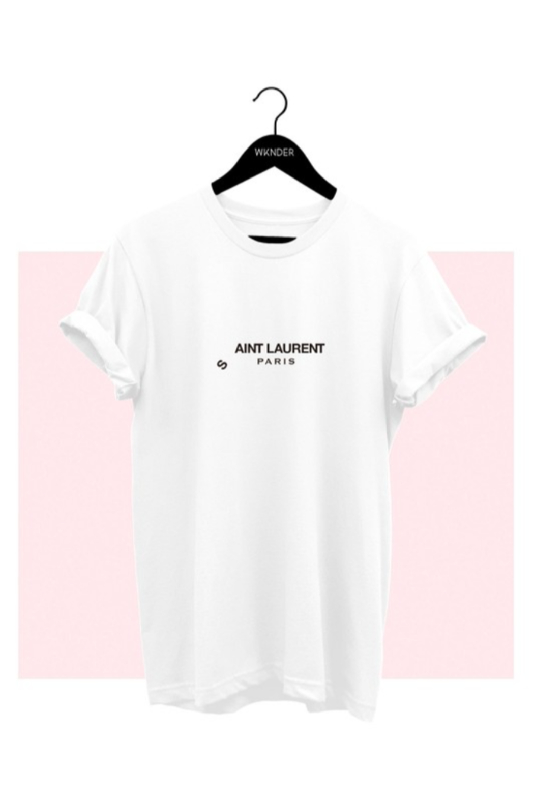 wknder Ain't Laurent Graphic Tee - Front Cropped Image
