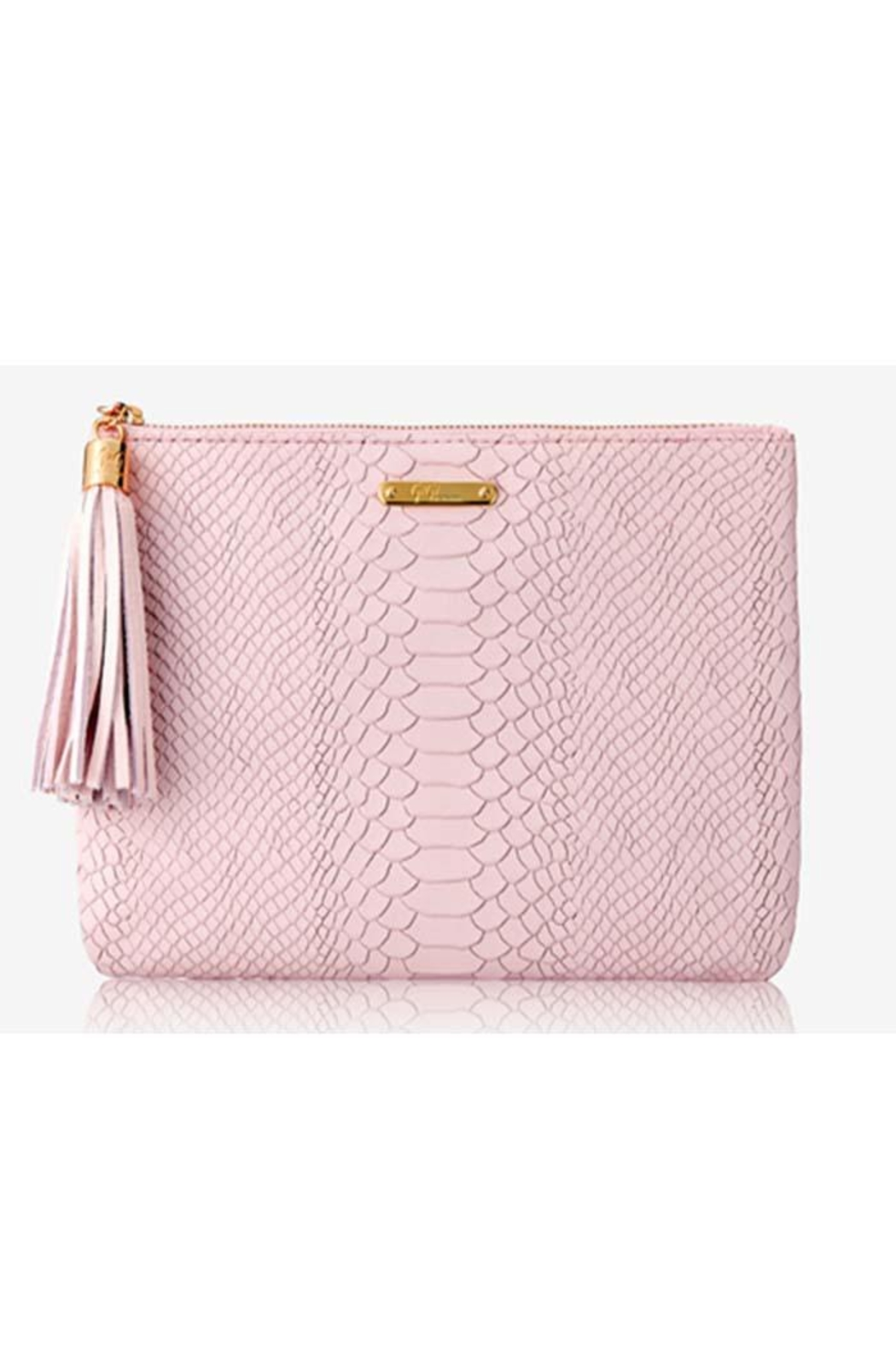Gigi New York Aio Snake Clutch - Front Cropped Image