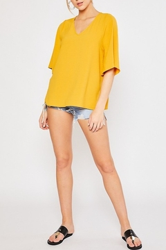 Mittoshop AIRFLOW FLUTTER SLEEVE BLOUSE - Alternate List Image