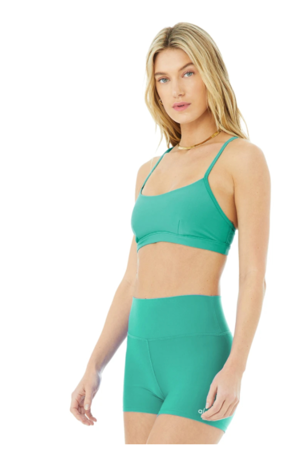 Alo Yoga  Airlift Intrigue Bra - Front Cropped Image