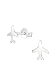 Silver Jewels Airplane Silver Stud Earrings - Product Mini Image