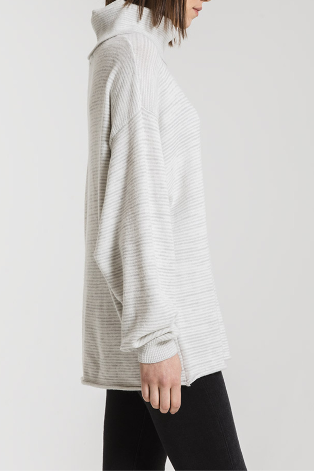 rag poets Aja Soft Knit Cowl Neck Sweater - Side Cropped Image
