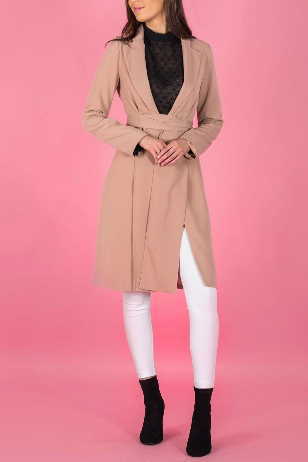 A.Joy Ocean Trench Coat - Front Full Image
