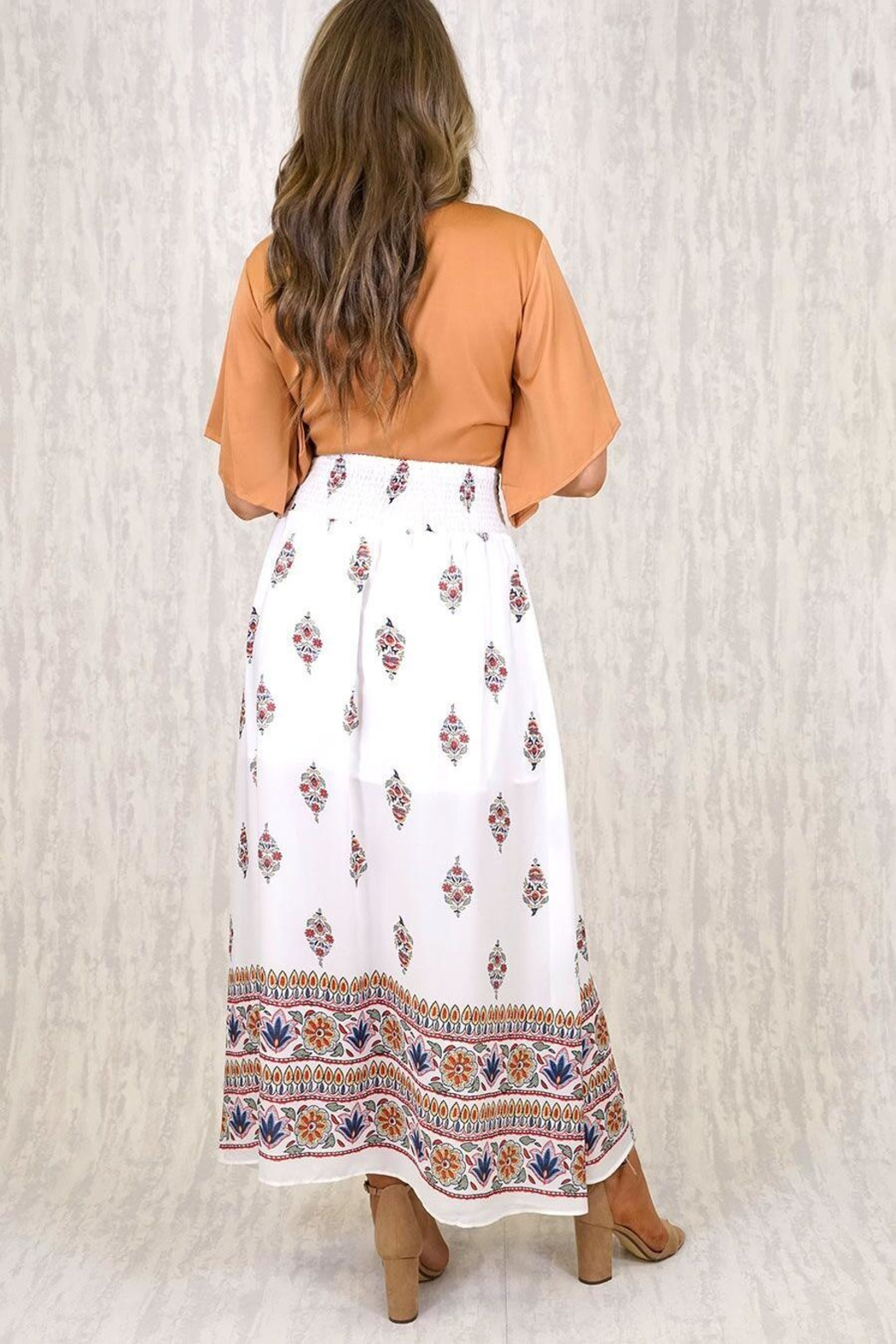 Ajoy Levora Boho Skirt - Side Cropped Image
