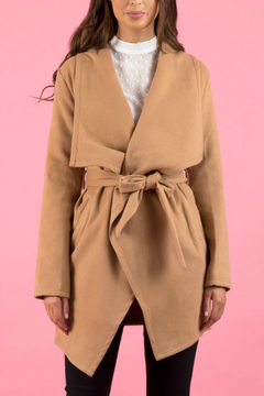 Ajoy Levora Collared Wrap Coat - Product List Image