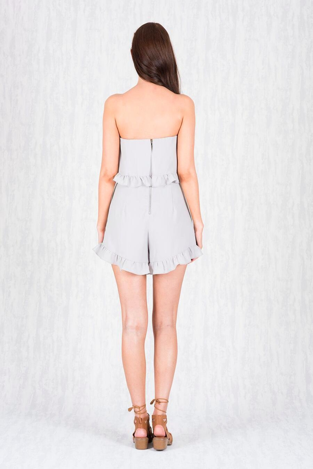 Ajoy Levora Double Tier Playsuit - Side Cropped Image
