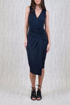 Shoptiques Product: Draped Navy Dress