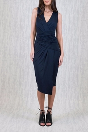 Ajoy Levora Draped Navy Dress - Product Mini Image