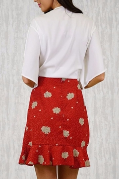 Ajoy Levora Red Wrap Skirt - Alternate List Image