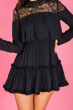 Ajoy Levora Black Ruffle Dress - Alternate List Image