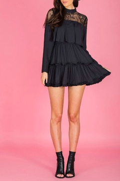 Ajoy Levora Black Ruffle Dress - Product List Image