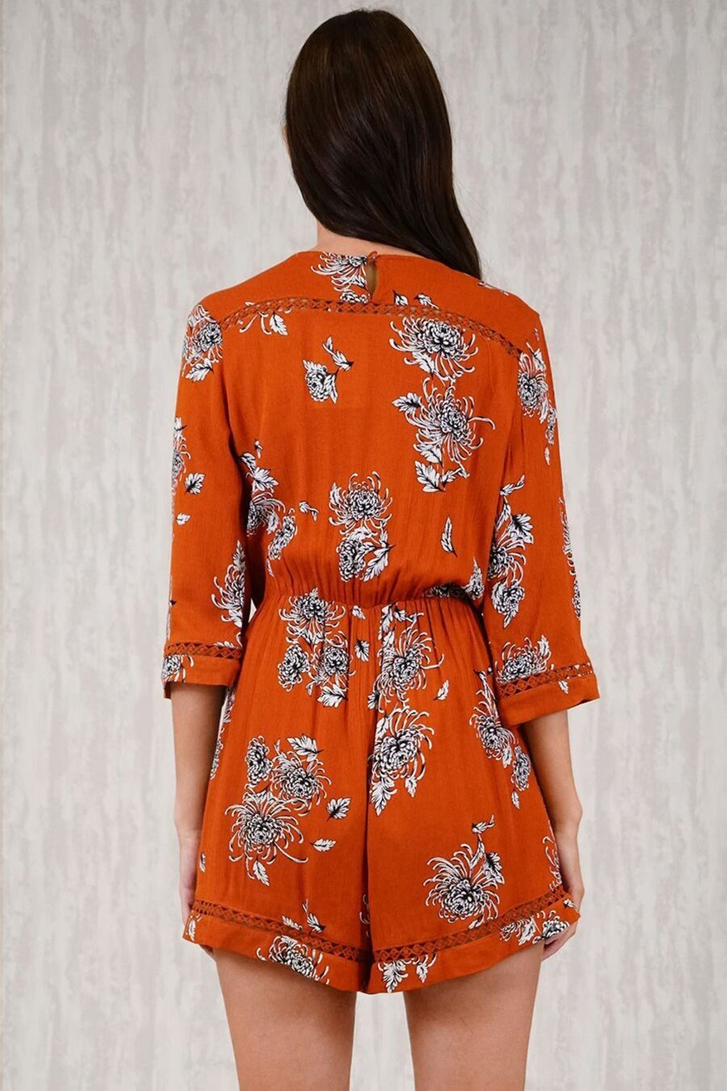 Ajoy Levora Rustic Playsuit - Side Cropped Image