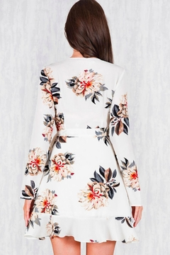 Ajoy Levora Wrap Floral Dress - Alternate List Image