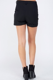 AKAIV Black Cargo Shorts - Side cropped