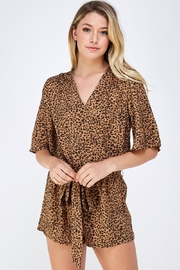 AKAIV Dot Print Romper - Front cropped