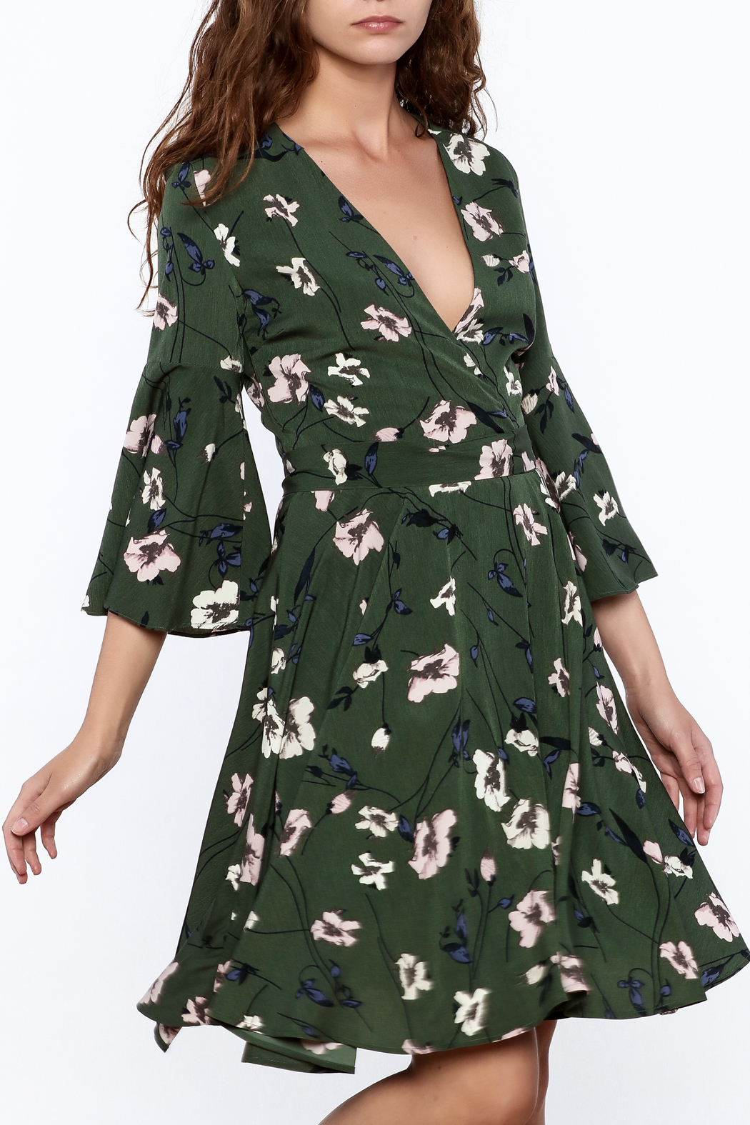 Akaiv Green Floral Dress From New Hampshire By Pretty