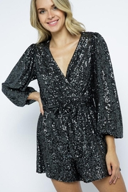 AKAIV Long-Sleeve Sequins Romper - Side cropped