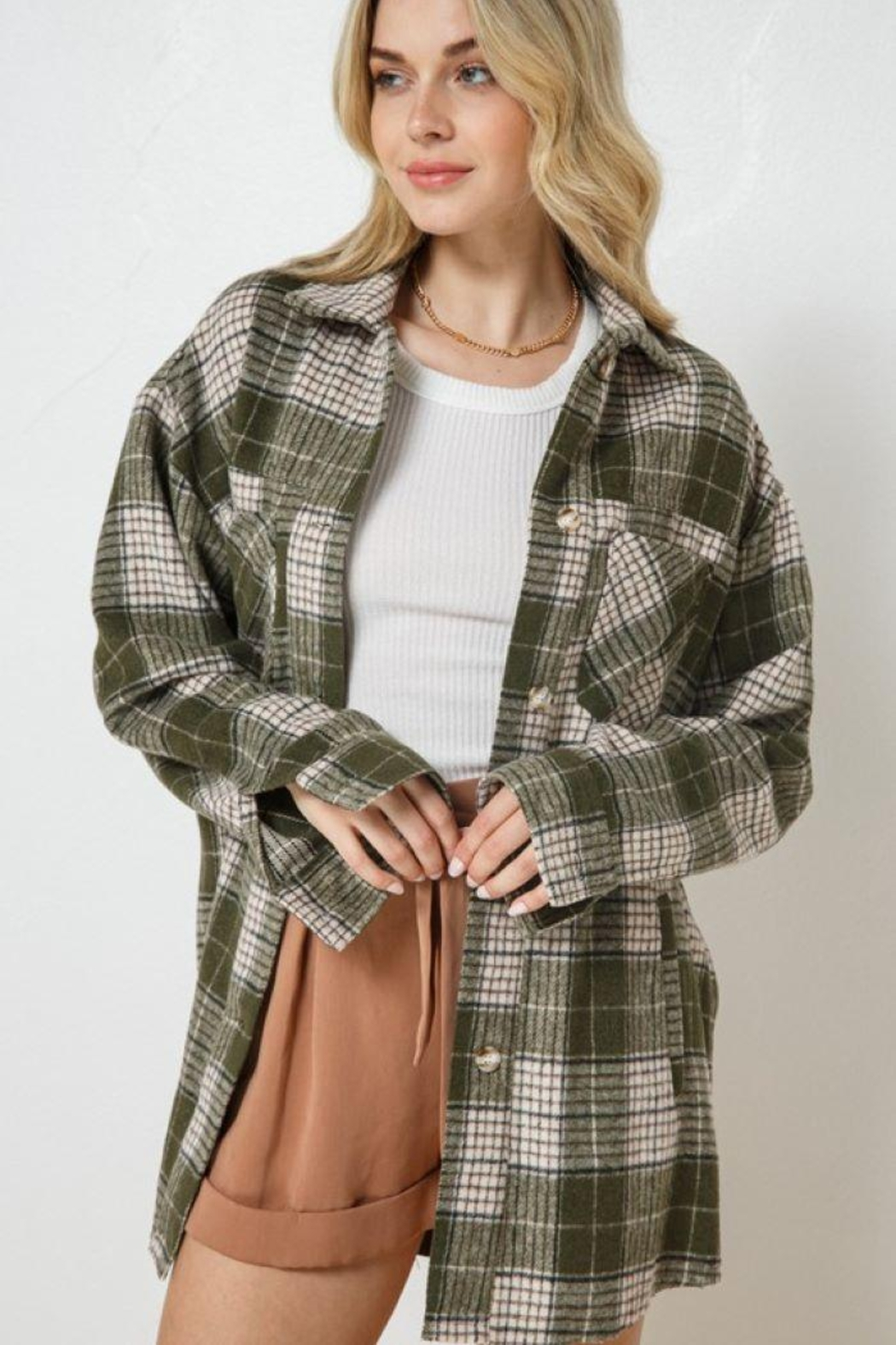 AKAIV Oversized Button Down Jacket - Front Full Image