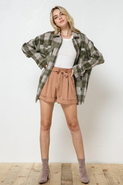 AKAIV Oversized Button Down Jacket - Back cropped