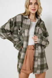 AKAIV Oversized Button Down Jacket - Front cropped