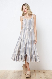AKAIV Spaghetti Strap Tiered Sundress - Front cropped