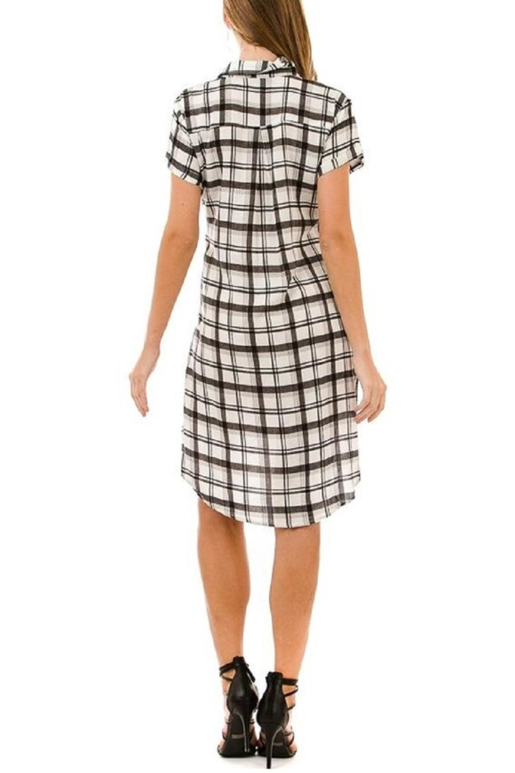 AKAIV Tie-Front Shirt Dress - Side Cropped Image