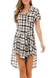 AKAIV Tie-Front Shirt Dress - Front full body