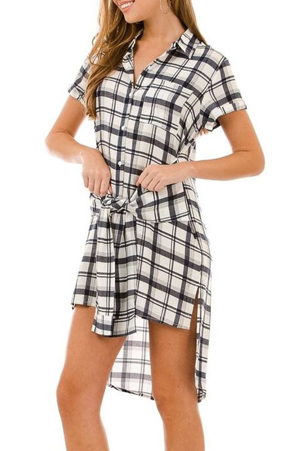 AKAIV Tie-Front Shirt Dress - Main Image