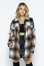 AKAIV Two-Tone Oversized Shacket - Side cropped