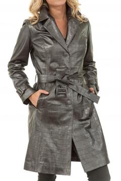 Shoptiques Product: Grey Leather Trench