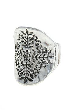 Shoptiques Product: Etched Leaf Ring