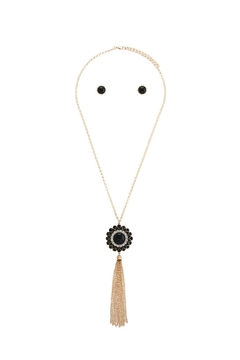 Shoptiques Product: Floral Medallion Tassel Necklace