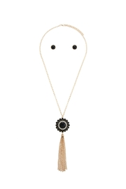 AL Boutique Floral Medallion Tassel Necklace - Product Mini Image