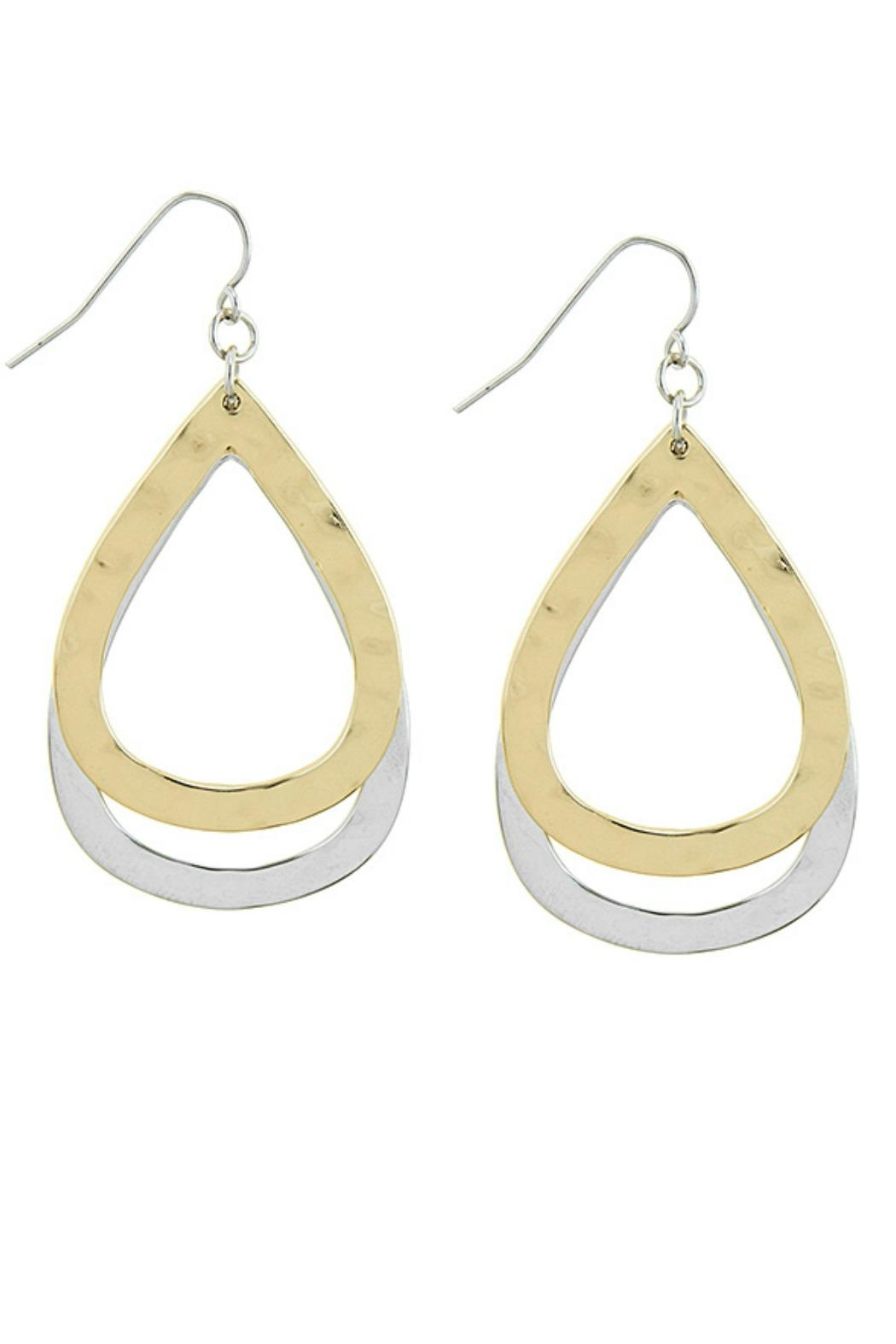 AL Boutique Hammered Teardrop Earrings - Main Image
