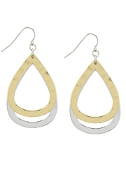 AL Boutique Hammered Teardrop Earrings - Front cropped
