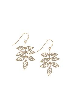 Shoptiques Product: Leafy Cutout Earrings