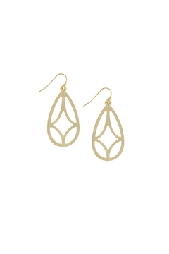Shoptiques Product: Matte Cutout Earrings