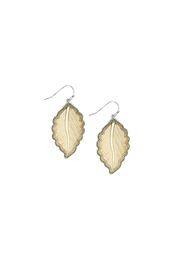 AL Boutique Mixed Metal Leaf Earrings - Product Mini Image