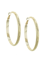 AL Boutique Textured Hoop Earring - Front cropped