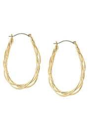 AL Boutique Twisted Hoop Earrings - Front cropped
