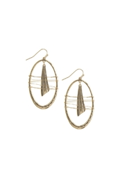 AL Boutique Wire Wrapped Oval Earrings - Product Mini Image